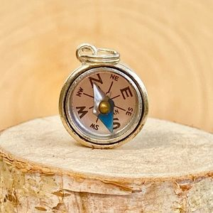 Vintage | Charm Compass -Sterling Silver